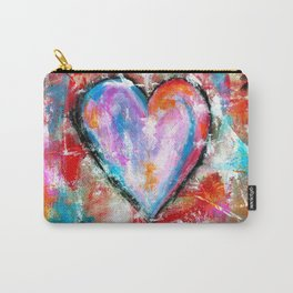 Reckless Heart, Abstract Art Painting Carry-All Pouch