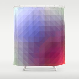 Blend Pixel Color 4 Shower Curtain