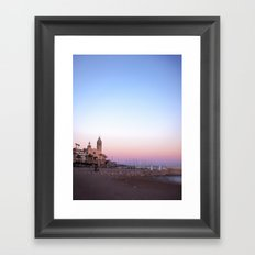 Goodnight from Sitges Framed Art Print