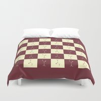 wine Duvet Covers featuring WINE PICNIC by Sandhill