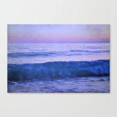 Blue wave. Retro summer. Canvas Print