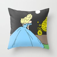 cinderella Throw Pillows featuring Cinderella by RaJess