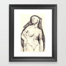 study marble Framed Art Print