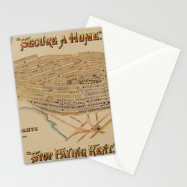 Map of Boston 1894 Stationery Cards