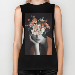 WOMAN WITH FLOWERS 7 Biker Tank
