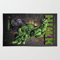 hulk Area & Throw Rugs featuring Hulk by WaXaVeJu