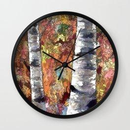 Aspen Trees Panorama Wall Clock