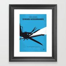 No260 My Scissorhands minimal movie poster Framed Art Print