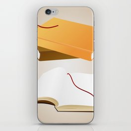 Books with background iPhone Skin