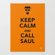 My Keep Calm Breaking Bad - poster Canvas Print