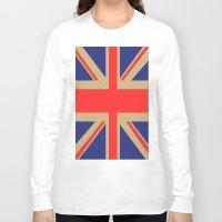union jack Long Sleeve T-shirts featuring Union Jack by MeMRB