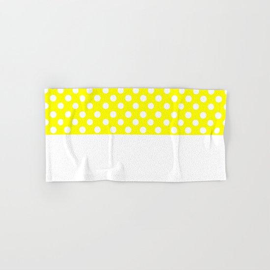 Polka Dots (White/Yellow) Hand & Bath Towel