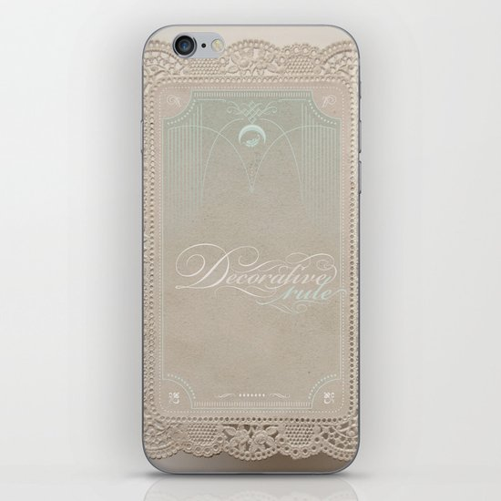 Decorative Rule iPhone & iPod Skin