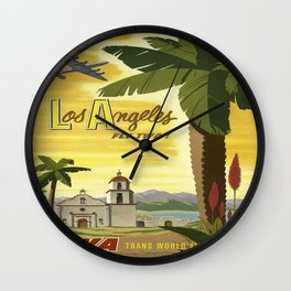 Vintage poster - Los Angeles Wall Clock