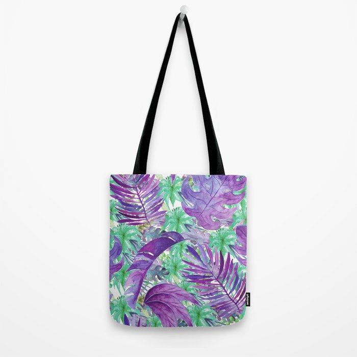 leaves and flowers Tote Bag