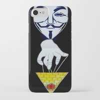 anonymous iPhone & iPod Cases featuring Anonymous by Edgar Huaracha