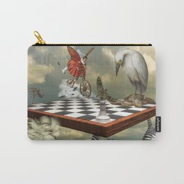 Zebra Upside Down Carry-All Pouch