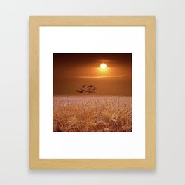bird and yellow Framed Art Print