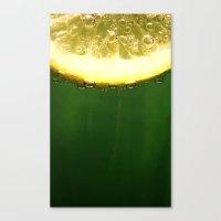 lemon Canvas Prints featuring lemon by techjulie