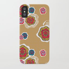 Flowers in Sand iPhone Case