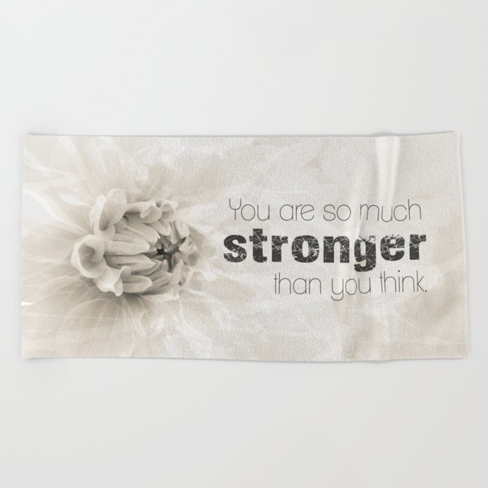 Spring Dahlia II - Be Strong Beach Towel