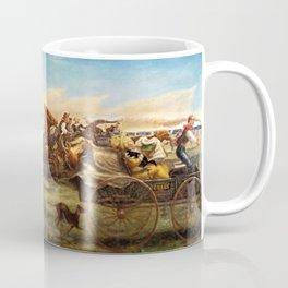 Classical Masterpiece 'The Oklahoma Land Rush' by John Steuart Curry Coffee Mug