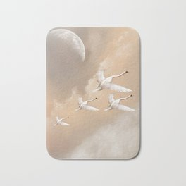 Flying Swans Bath Mat