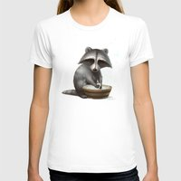 raccoon T-shirts featuring Raccoon by Antracit