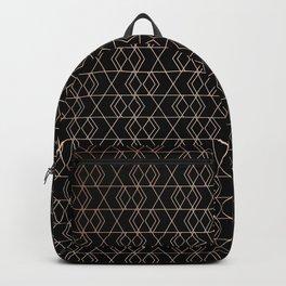 Geo Pattern - Black & Gold Backpack