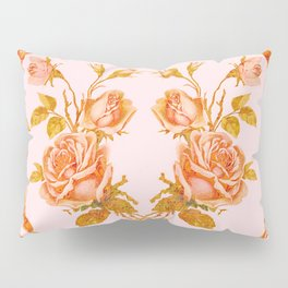 Garland and vintage roses Pillow Sham