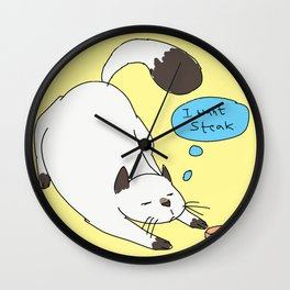 Kitty is Picky Wall Clock