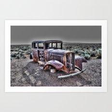 Rusting in the desert Art Print