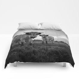 High Park Cow Mono Comforters