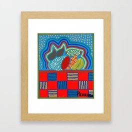 Cat in the Kitchen Framed Art Print