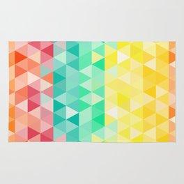 Rainbow triangles Rug