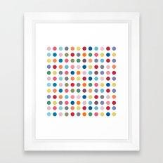 Polka Dots - Color Love Framed Art Print