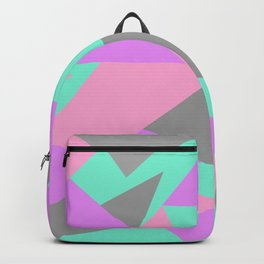 Neon triangles Backpack