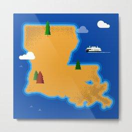 Louisiana Island Metal Print