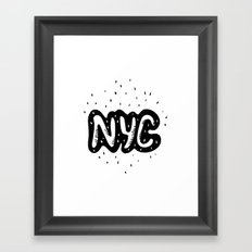 NYC lettering series: #1 Framed Art Print