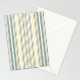 Seafoam Green Yellow Stripes Stationery Cards