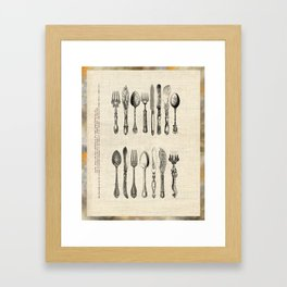 antique cutlery Framed Art Print