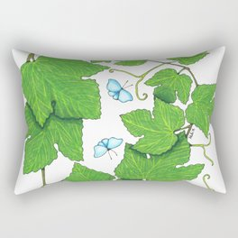 Grape Leaves Rectangular Pillow