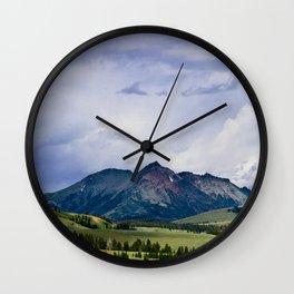 Electric Peak Yellowstone Wall Clock