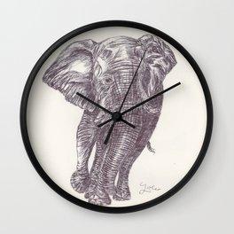 BALLPEN ELEPHANT 13 Wall Clock