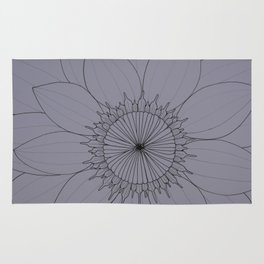 Line Drawing of Sunflower Rug