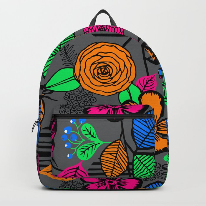New Fashion Vector Flower Backpack