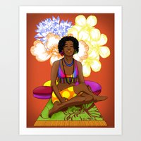 Hippie Chick Art Print