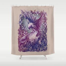 Romance Wolf Shower Curtain
