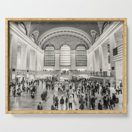 Grand Central Terminal monochrome Serving Tray