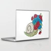 snail Laptop & iPad Skins featuring Snail by Guapo